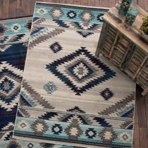 Southwest Rains Bone Rug - 8 x 10