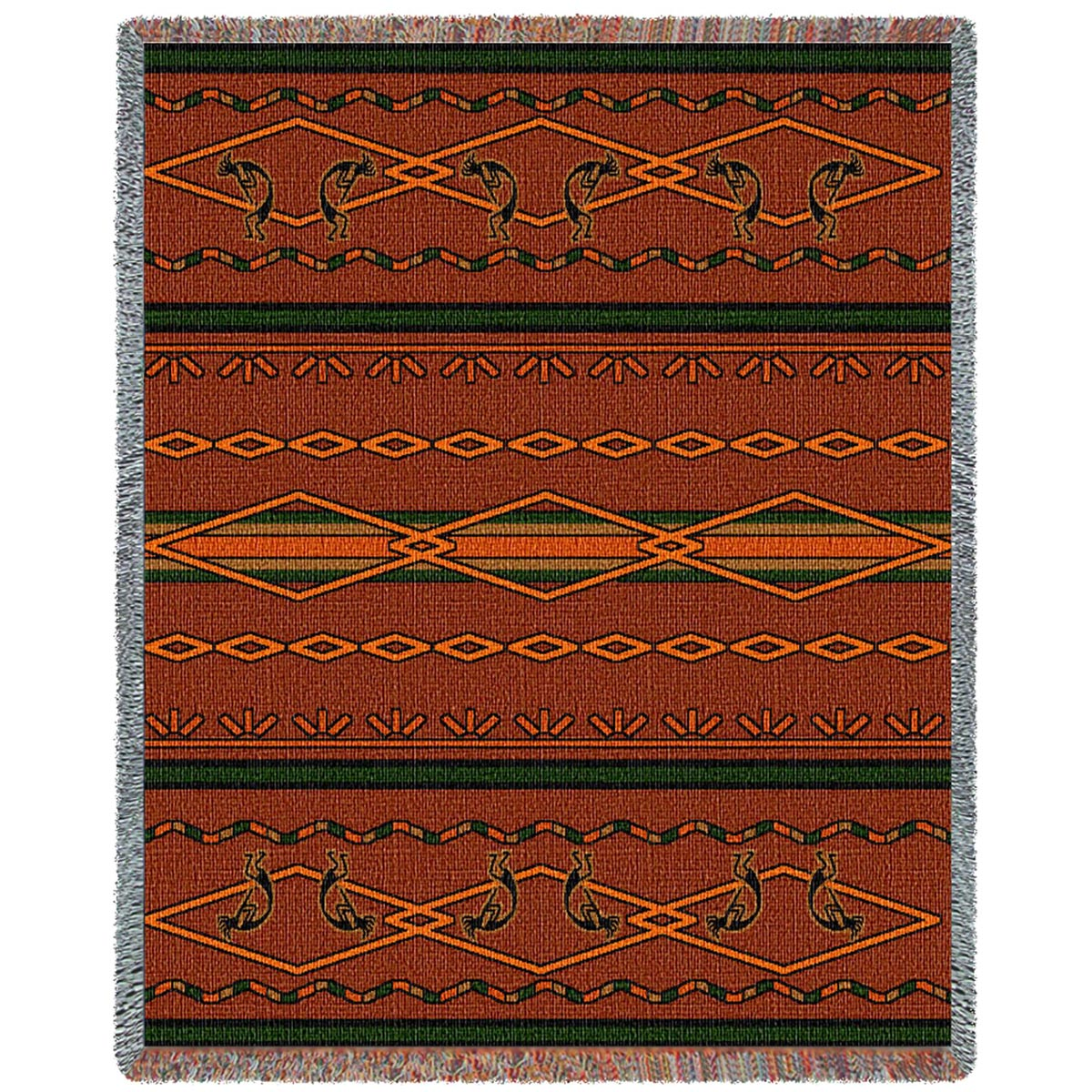 Southwest Russet and Green Blanket