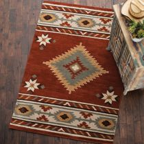Southwest Rust Rug - 2 x 8