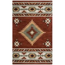 Southwest Rust Rug - 8 Ft Round