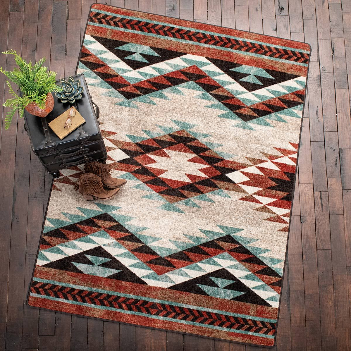 Southwest Sawtooth Rug - 8 x 11