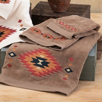 Southwest Sedona Towel Set - Brown