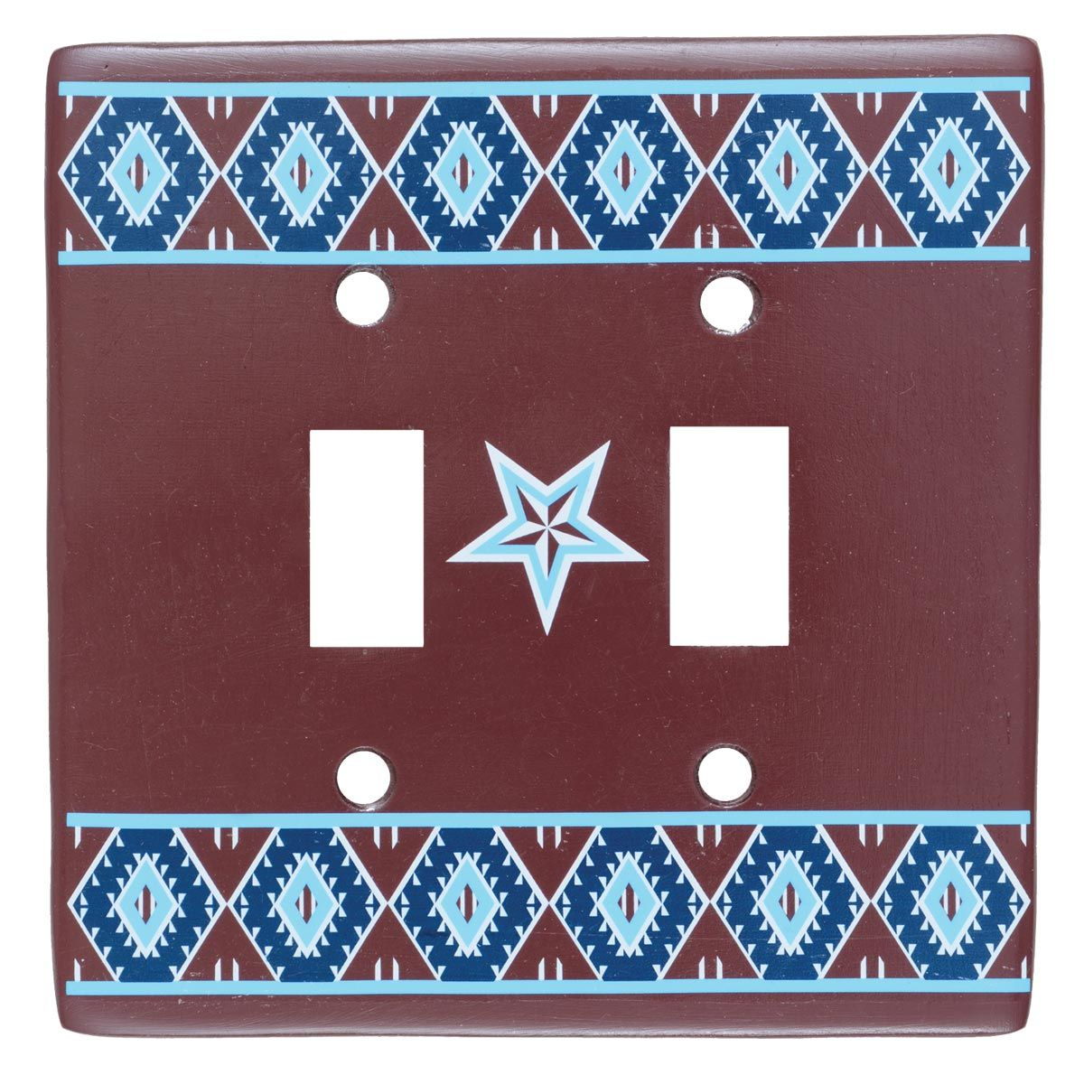 Southwest Star Double Switch Plate - CLEARANCE