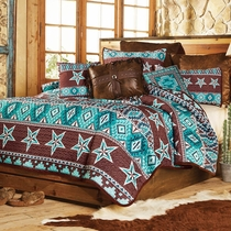 Southwest Star Quilt Set - Queen