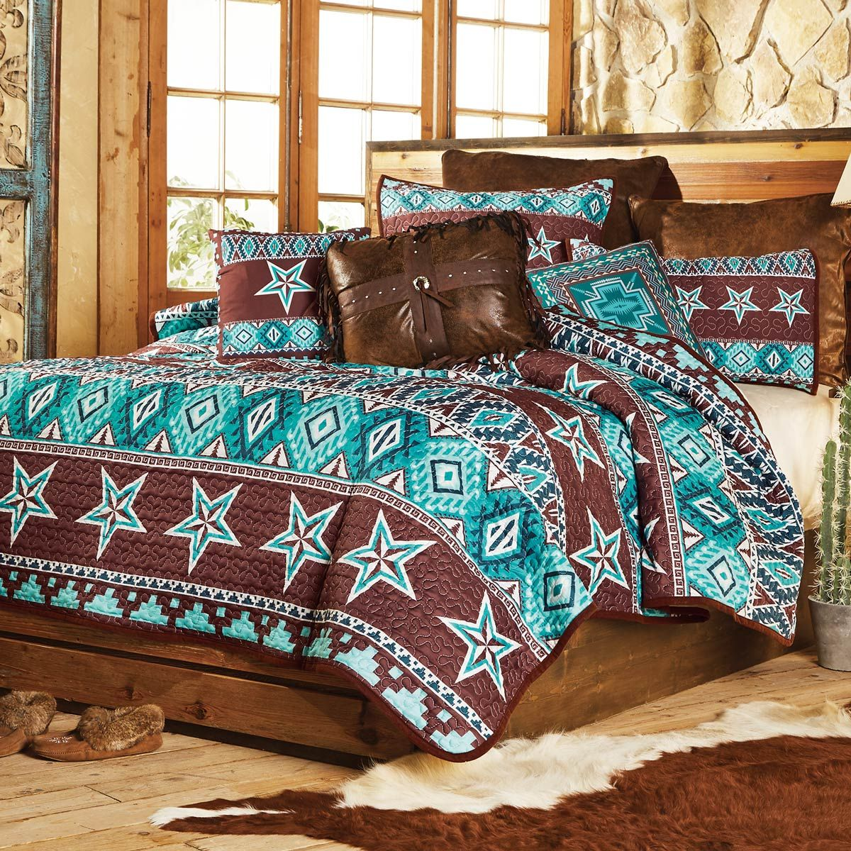 Southwest Star Quilt Set - Queen - CLEARANCE