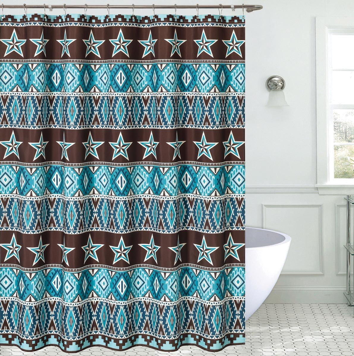 Southwest Star Shower Curtain