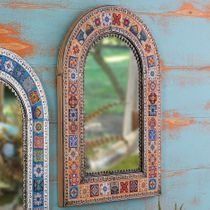 Southwest Talavera Mirror - Orange