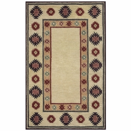 Southwest Tan Double Shapes Rug Collection