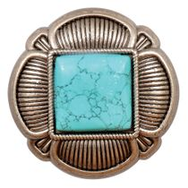 Southwest Turquoise & Metal Cabinet Knobs - Set of 4