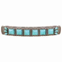 Southwest Turquoise & Metal Cabinet Pulls - Set of 2