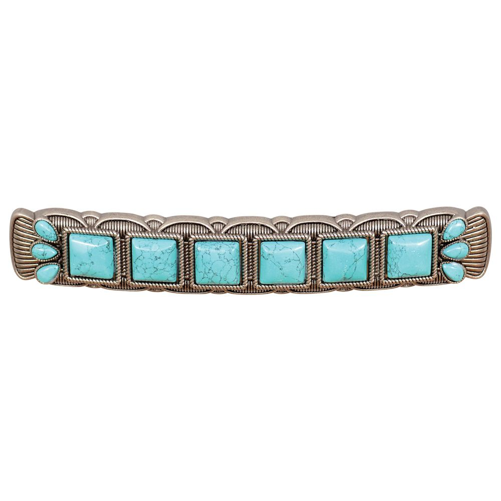 Southwest Turquoise & Metal Cabinet Pulls - Set of 2 - CLEARANCE