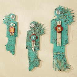 Southwest Turquoise Spirit Woman Wall Art