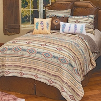 Southwest Vista Quilt Set - Queen