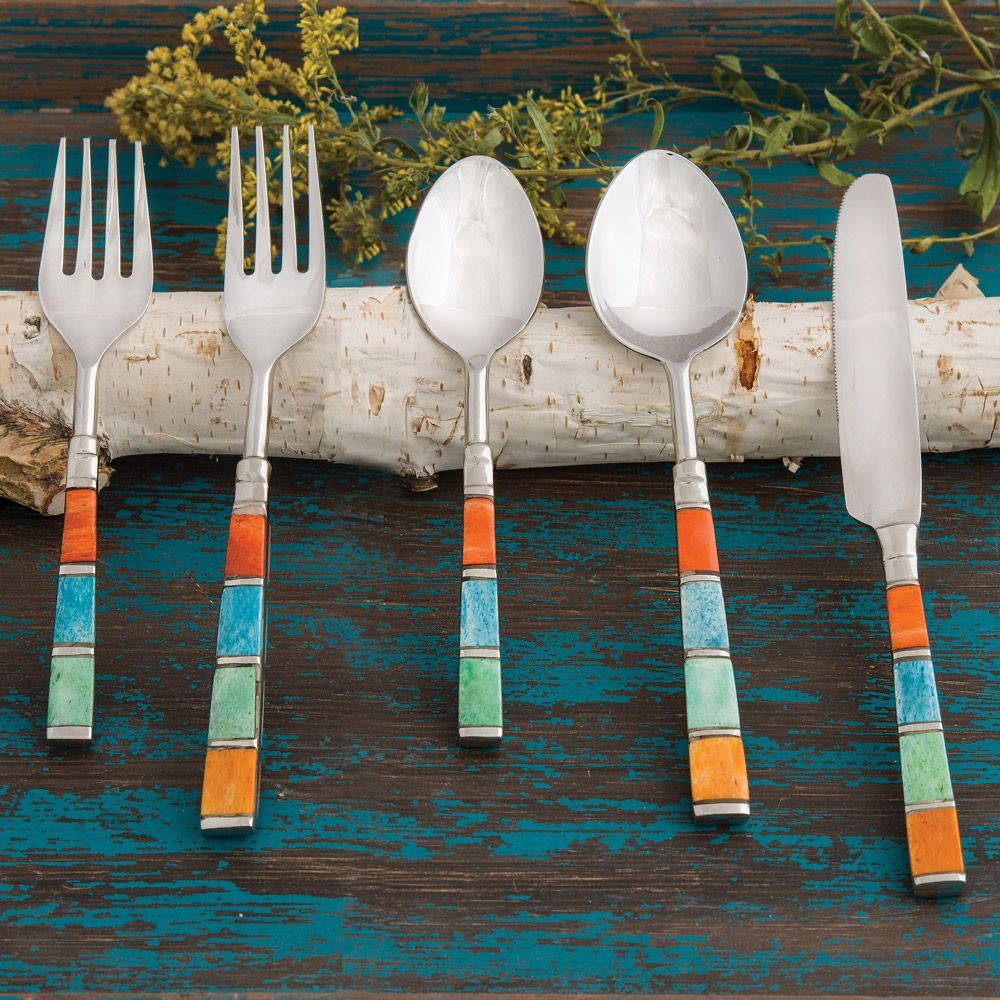 Southwestern Bone Stainless Steel Flatware Set (5 pcs)