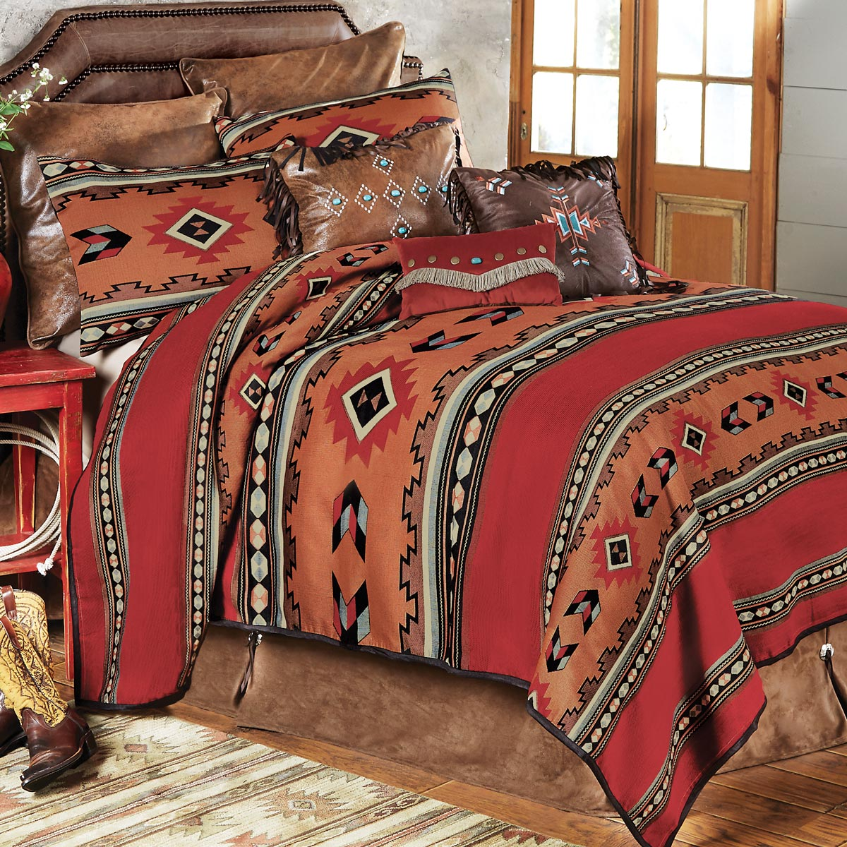 Southwestern Cibola Bed Set - Queen