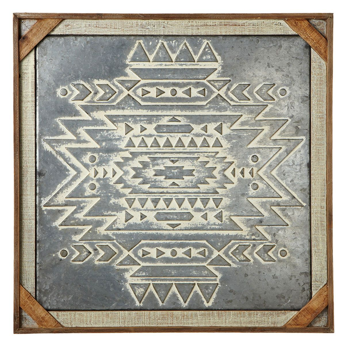 Southwestern Embossed Diamond Wall Hanging