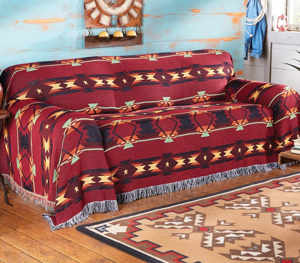 Southwestern Flame Sofa Cover