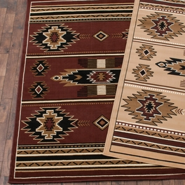 Southwestern Stars Brown Rug Collection