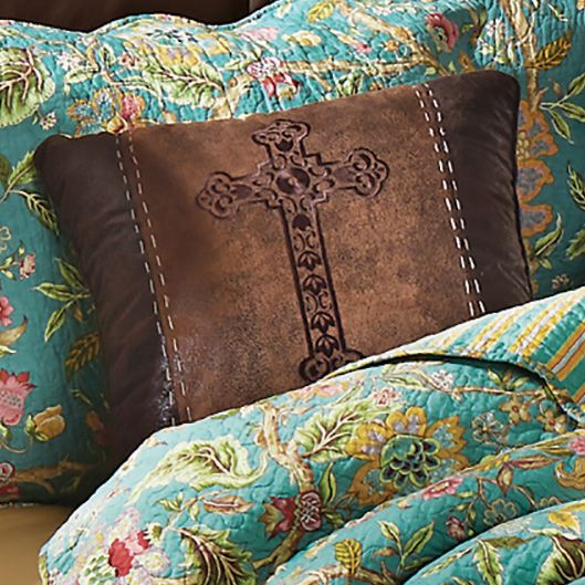 Spanish Cross Embroidered Pillow