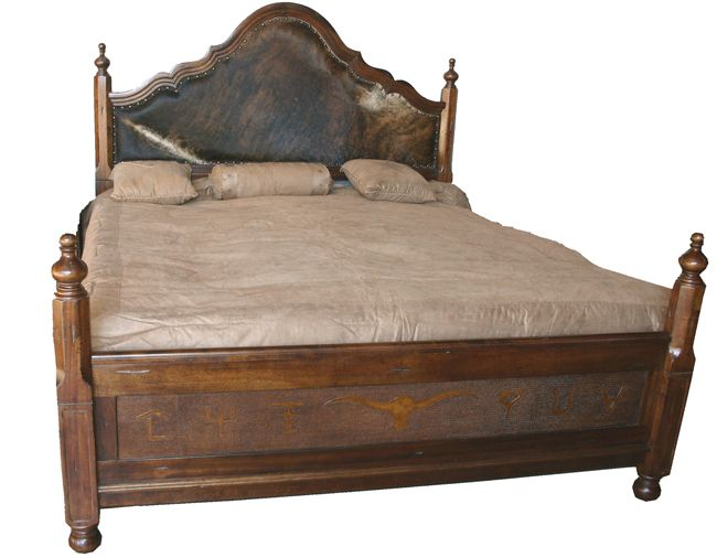 Spanish Hair on Hide Bed - King