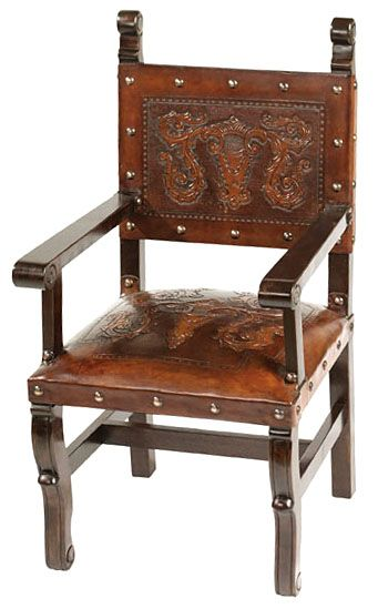 Spanish Heritage Arm Chair with Colonial Design