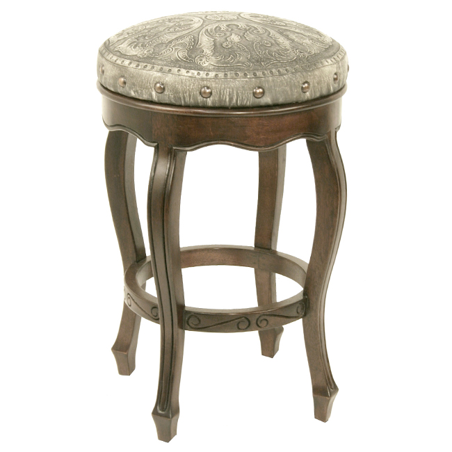 Spanish Heritage Ash Round Barstool - Set of 3