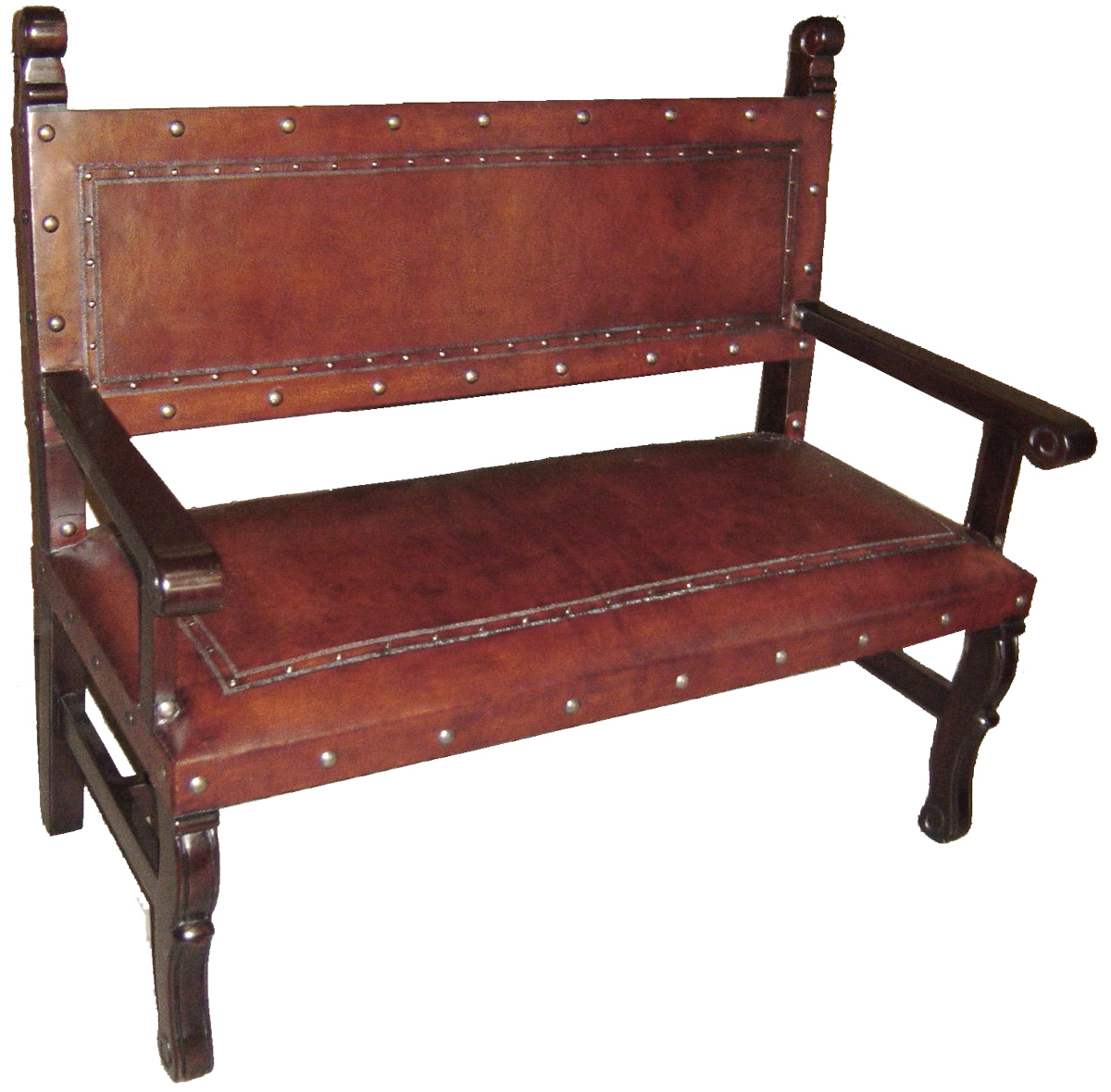 Spanish Heritage Bench - Antique Brown
