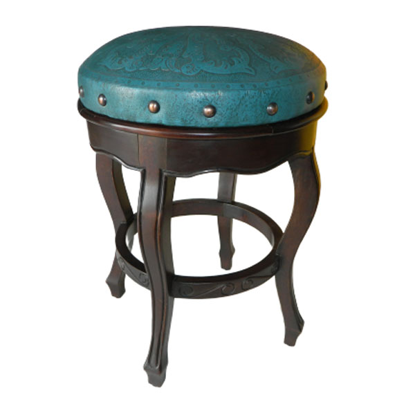Spanish Heritage Counter Stool - Colonial Teal