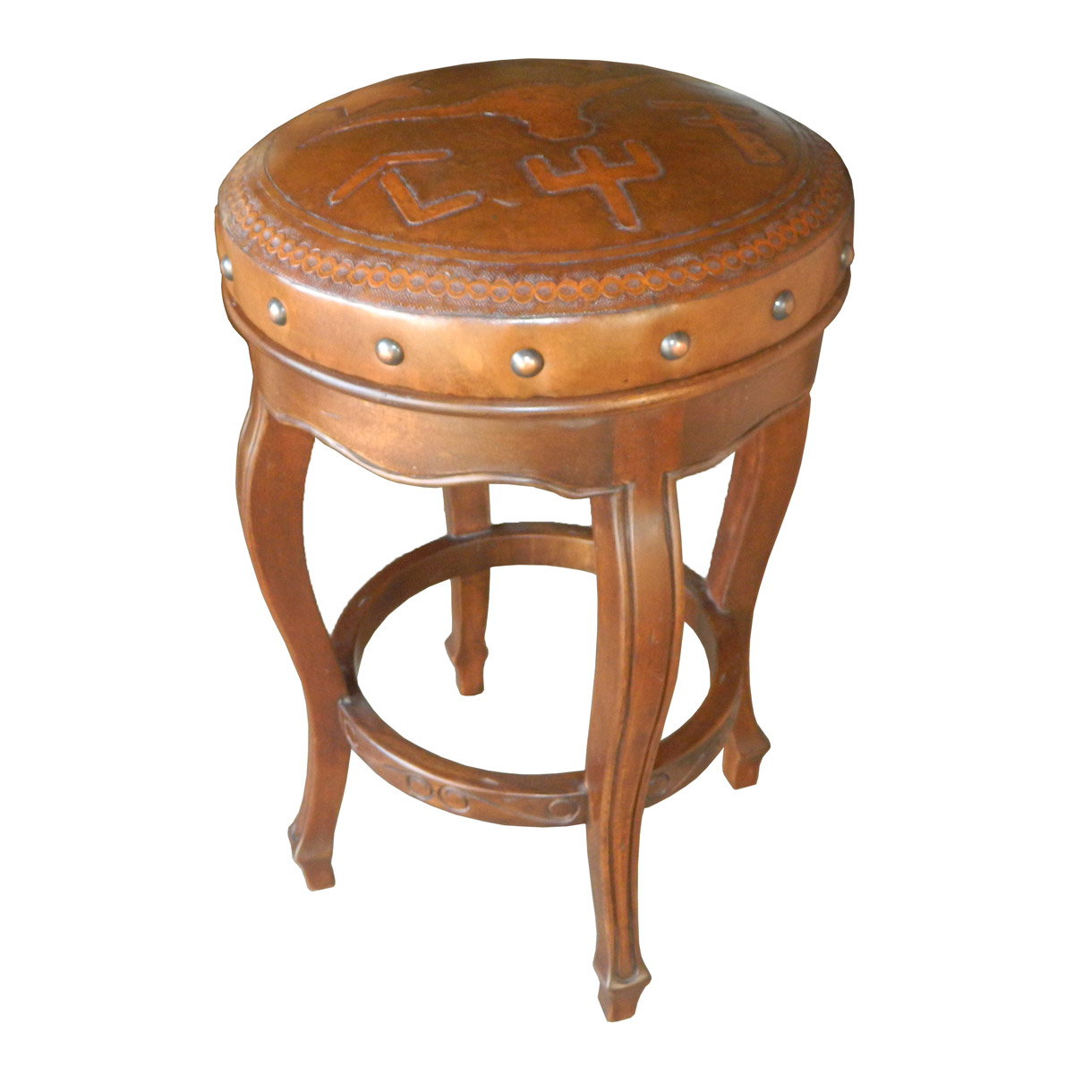 Spanish Heritage Round Counter Stool - Set of 3