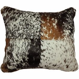Speckled Hair-On-Hide Stitched Pillow