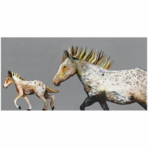 Pony Gallop Canvas Art - 36 x 18