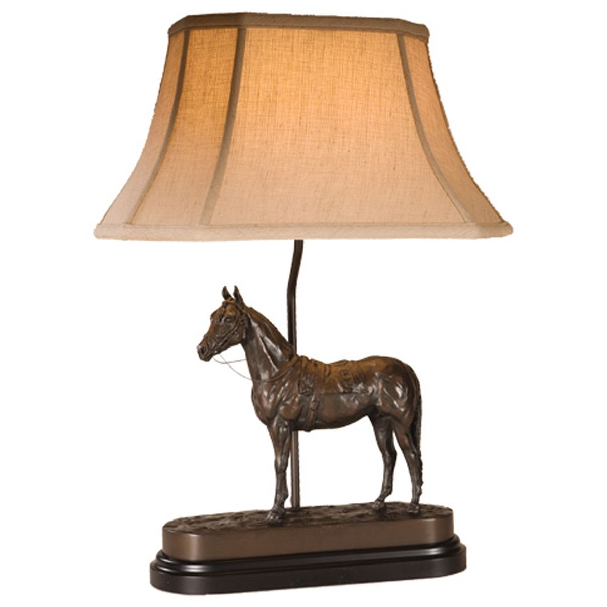 Spencer Creek Saddled Horse Table Lamp