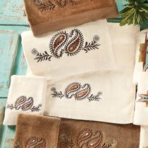 Spiced Paisley Cream Towel Set