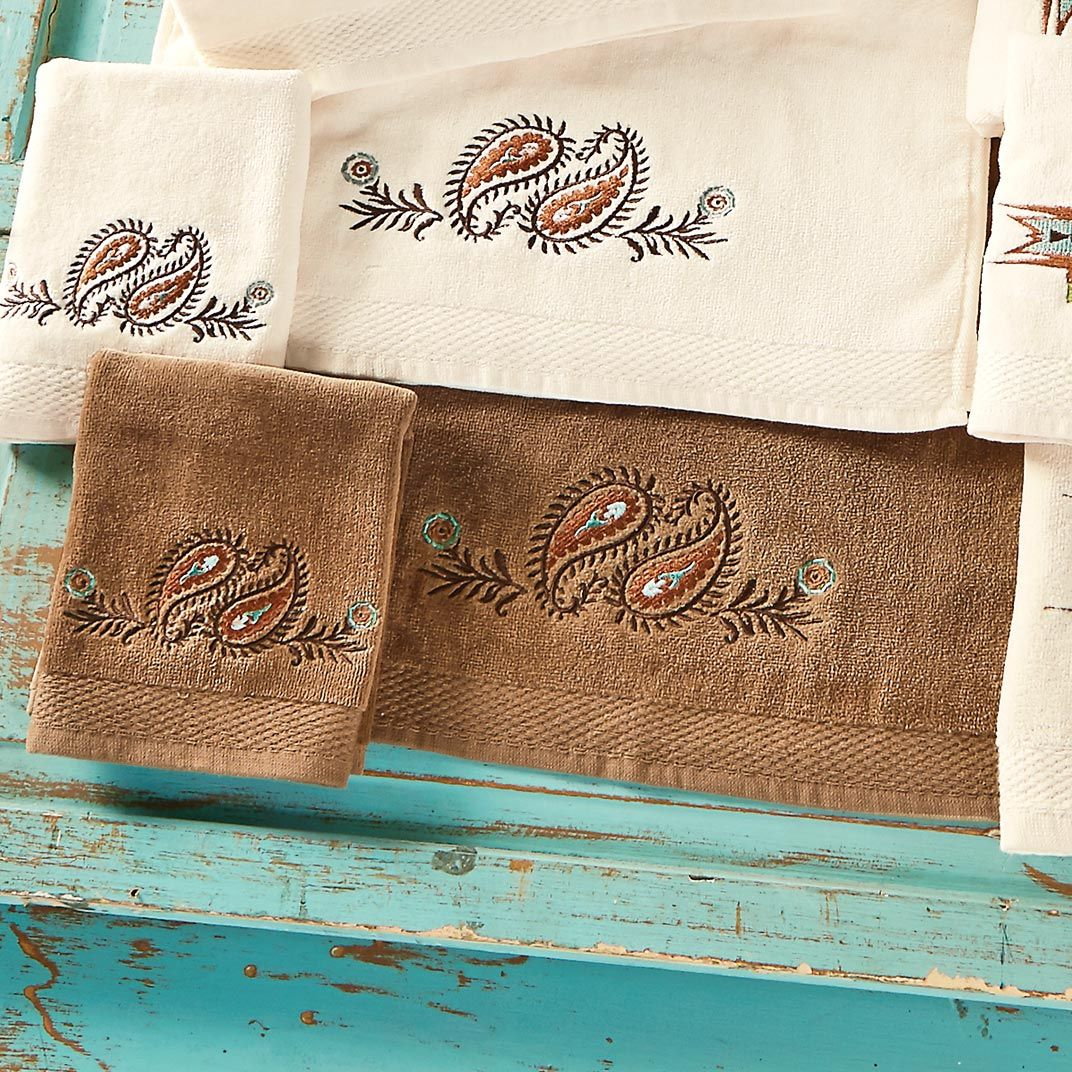 Spiced Paisley Mocha Towel Set