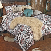 Spiced Paisley Quilt Set - Queen