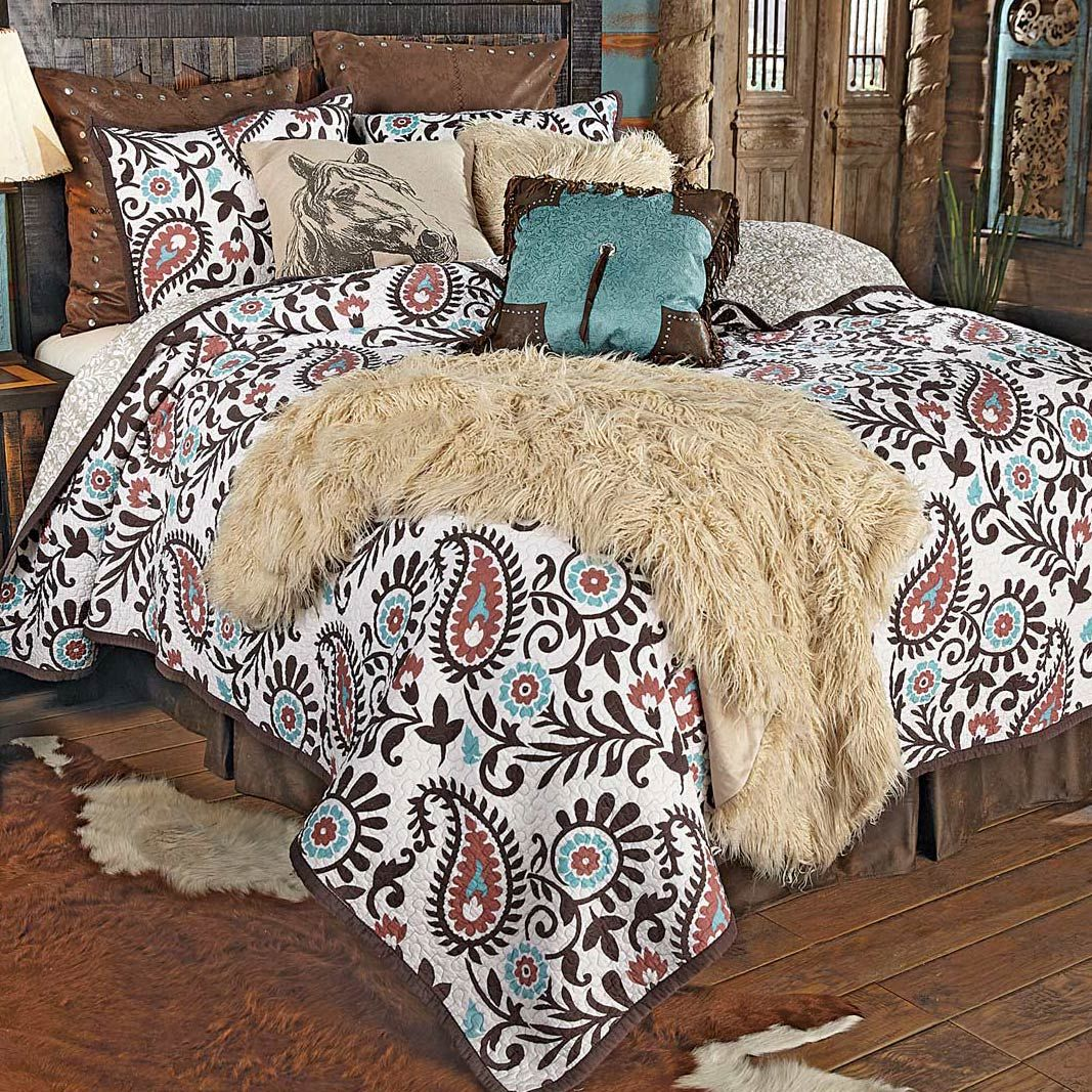 Spiced Paisley Quilt Set - Twin