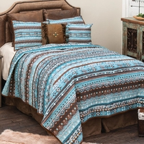 Spirit River Quilt Set - Queen