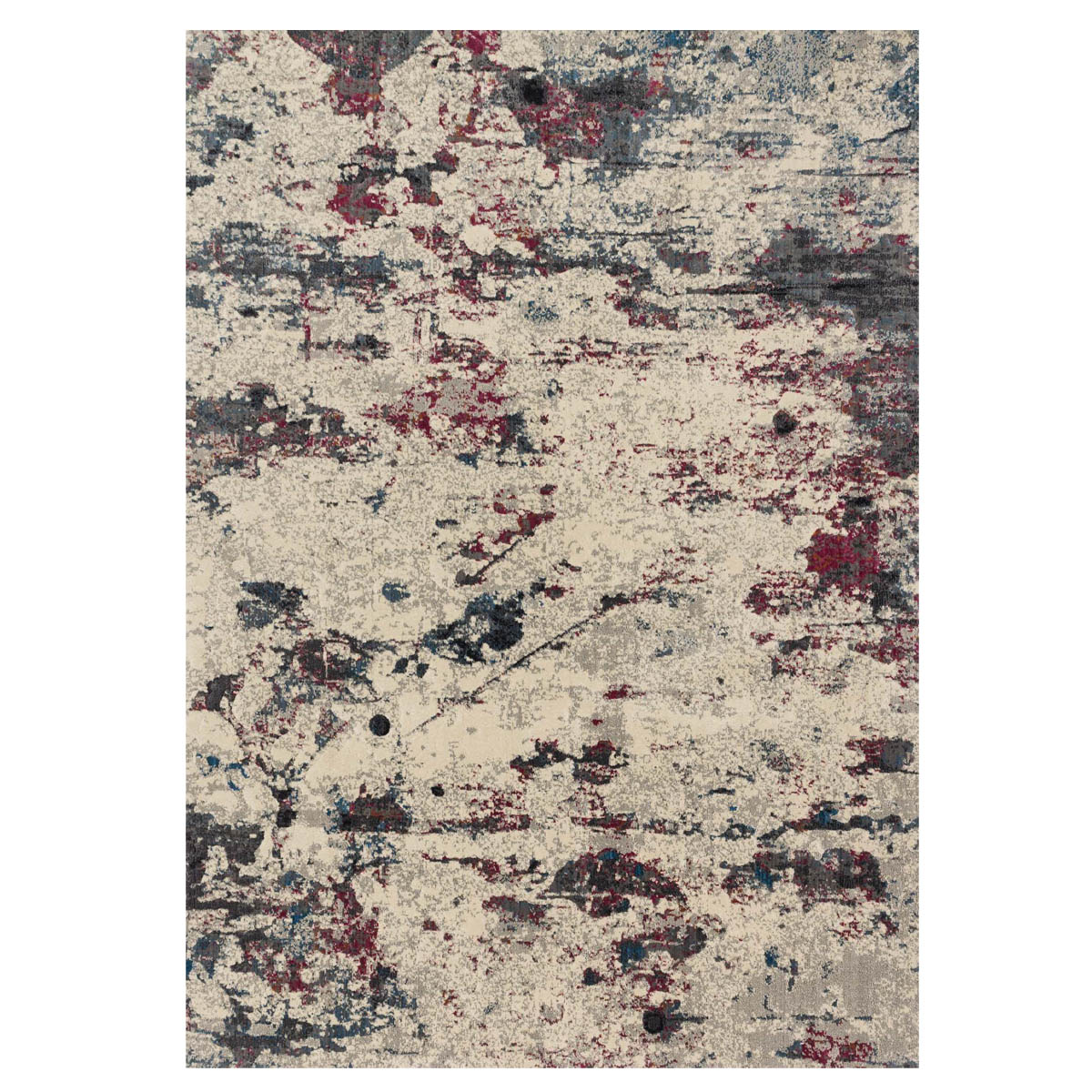 Splatter Rock Rug - 5 x 8