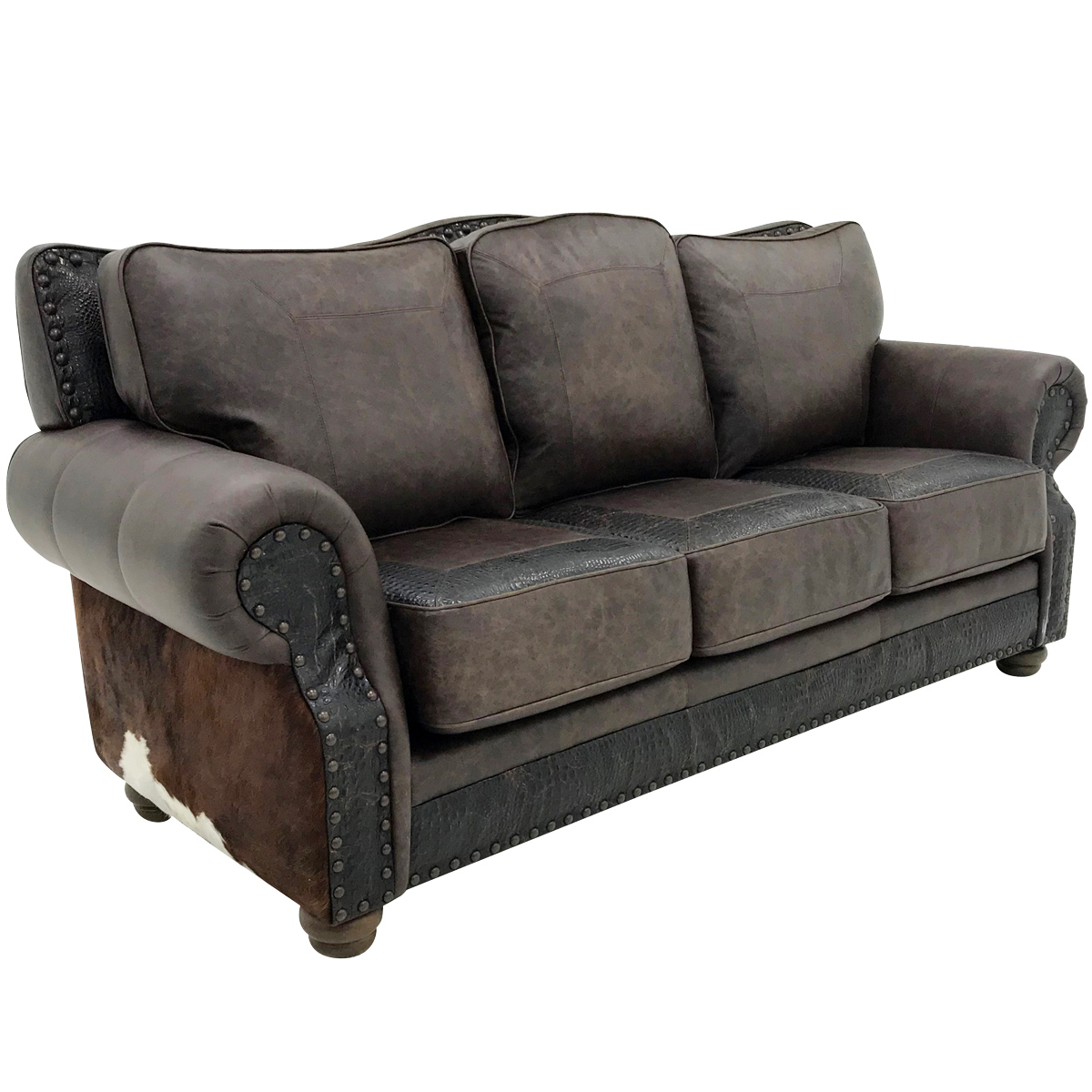 Split Rail 3 Cushion Sofa