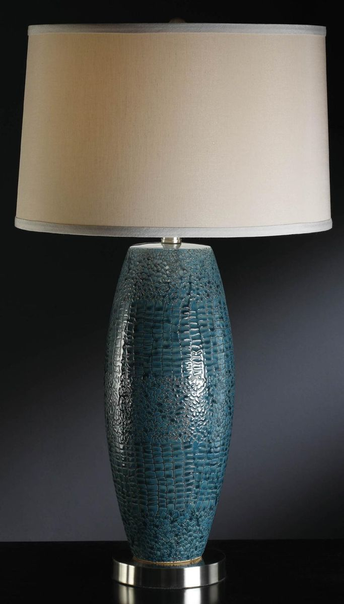 Spotted Turquoise Table Lamp