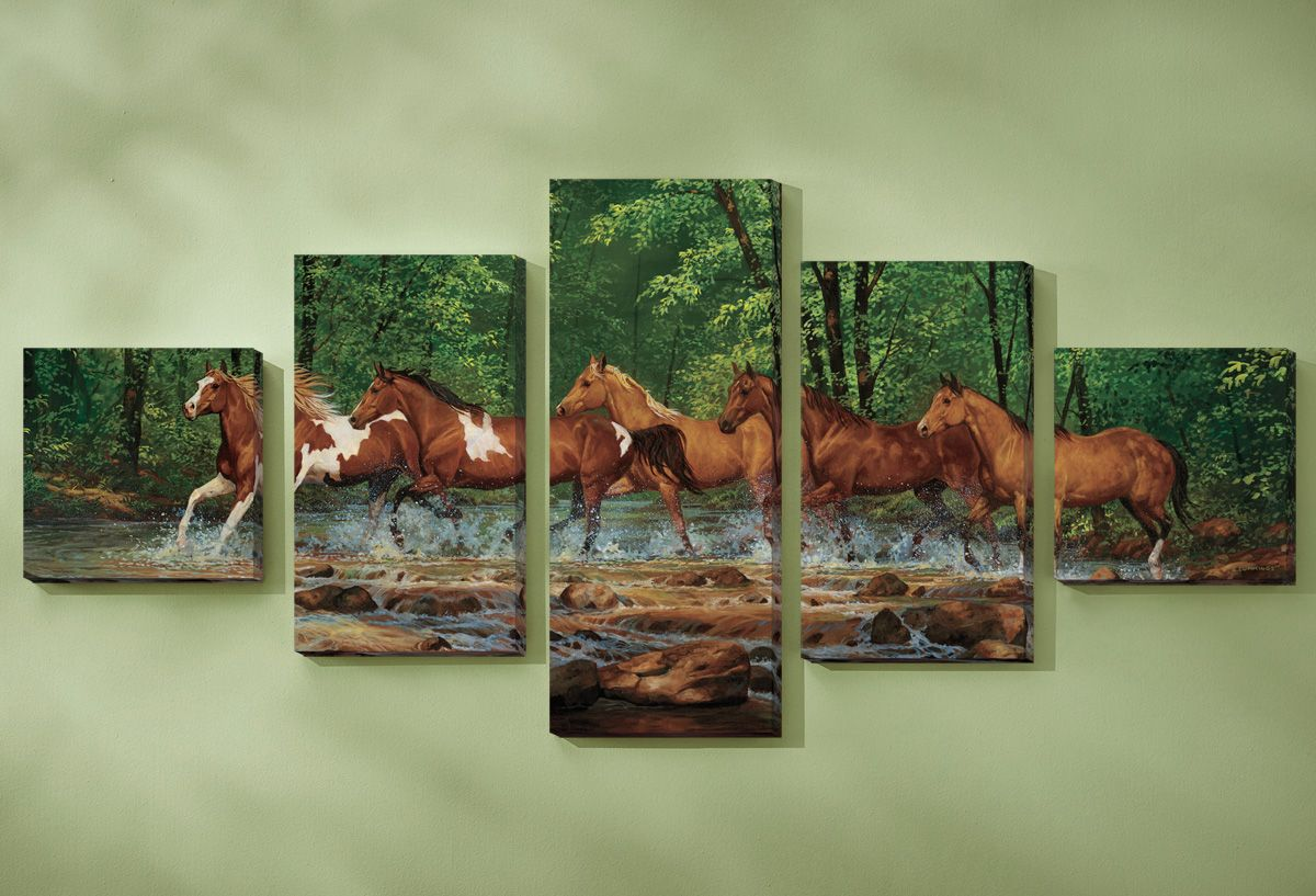 Spring Creek Wrapped Canvases - Set of 5