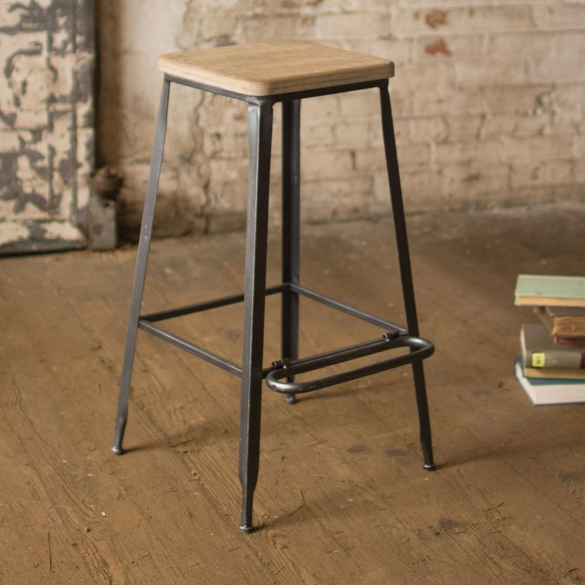 Wondrous Square Wood Top Bar Stool Gmtry Best Dining Table And Chair Ideas Images Gmtryco