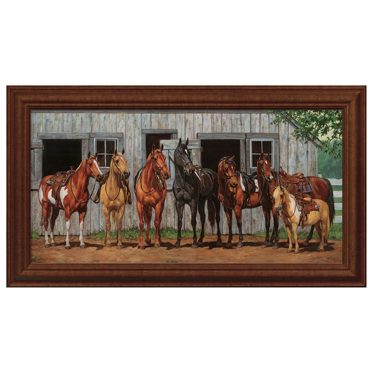 Stable & Saddles Wall Art