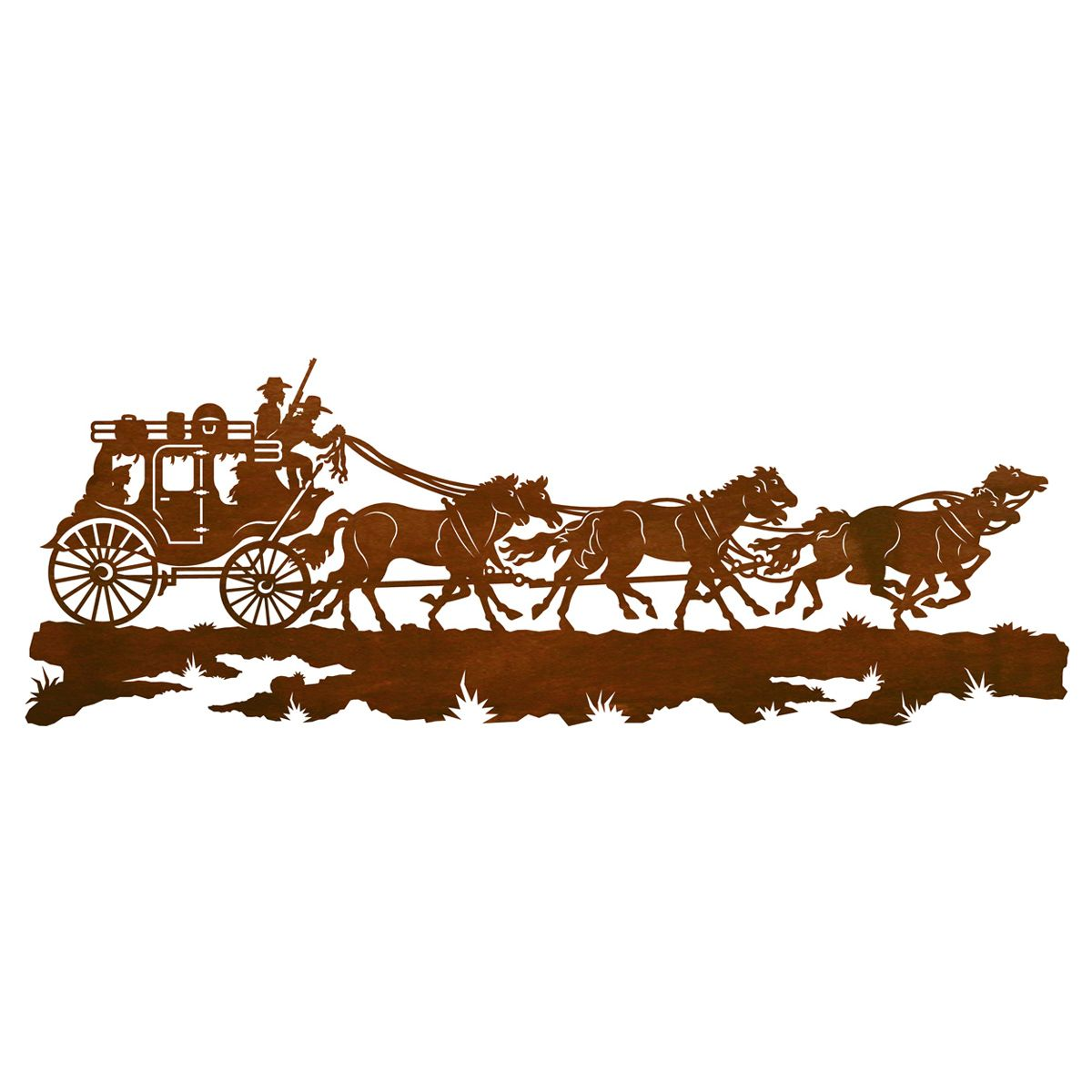 Stagecoach Wall Art - 57 Inch