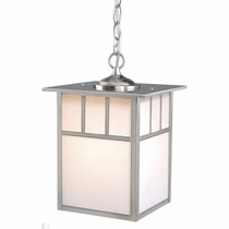 Stainless Steel Mission Outdoor Pendant Light - 9 Inch