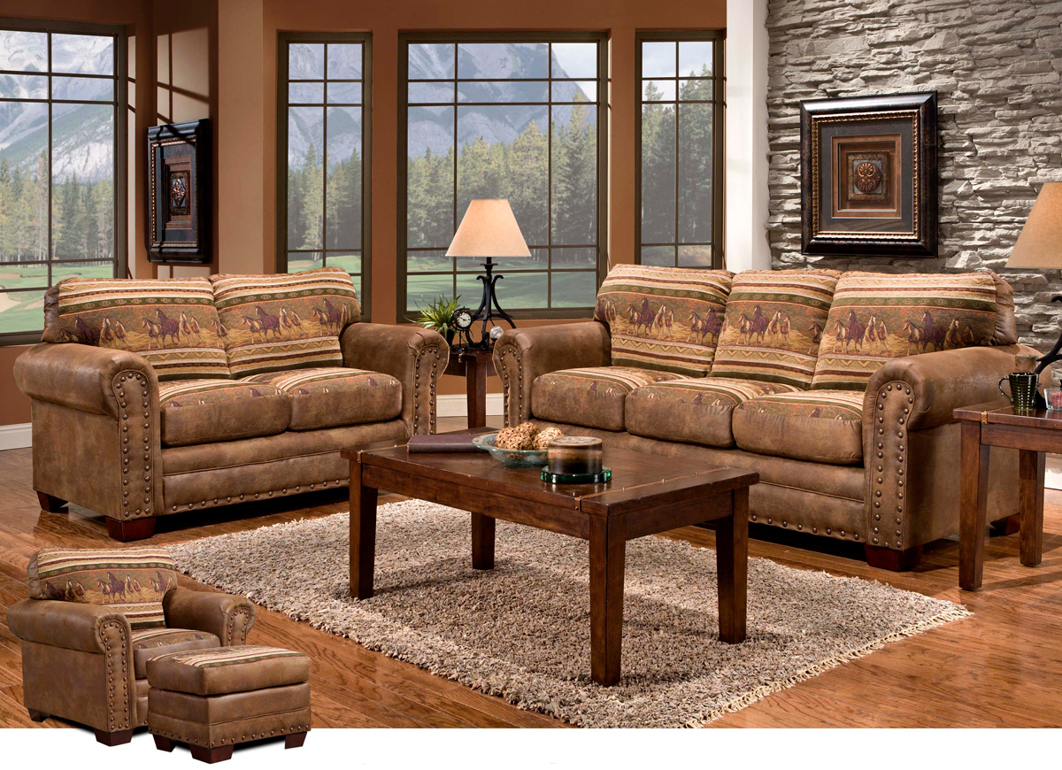 Stampede 4 Piece Living Room Set