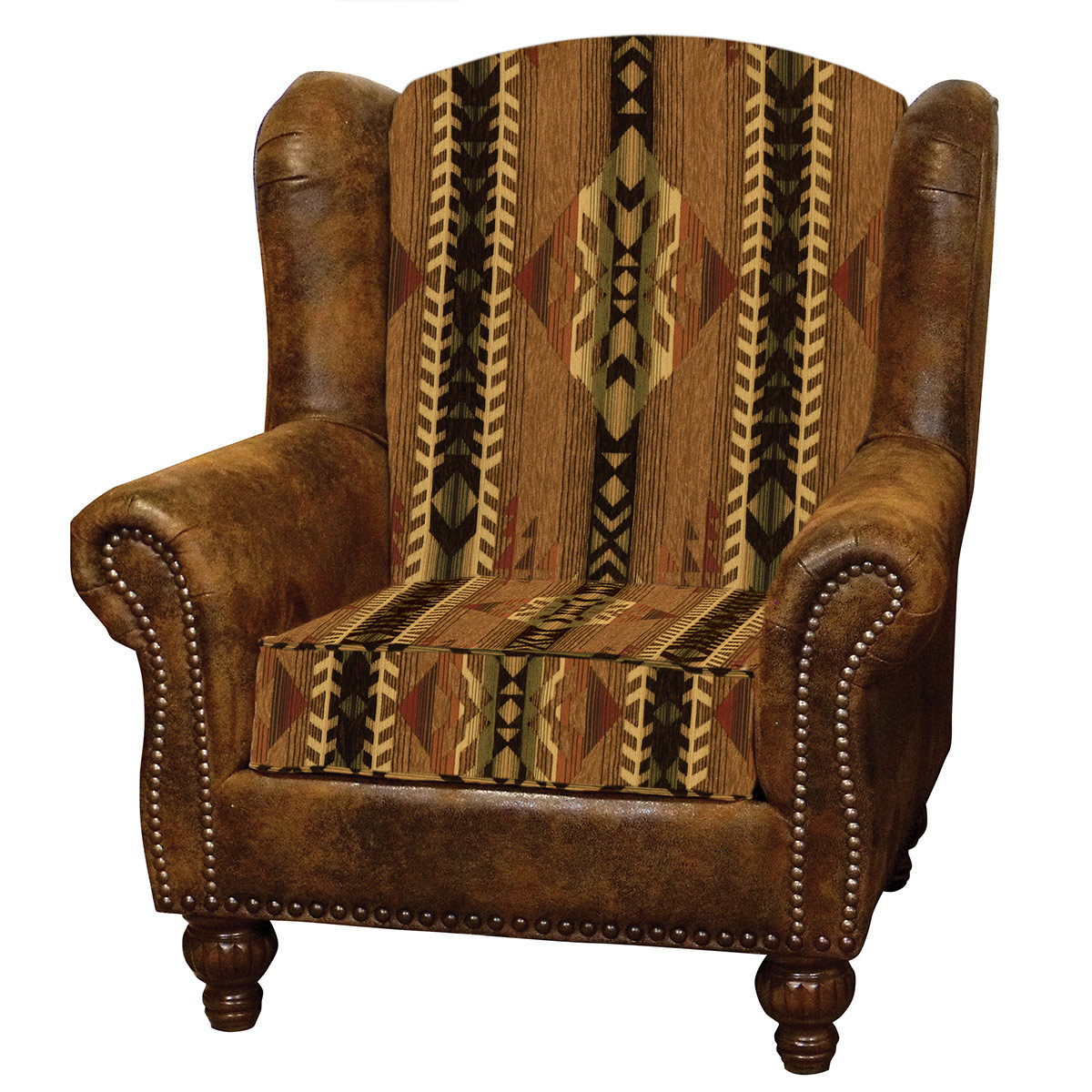Stampede and Faux Leather Silt Rambler Chair