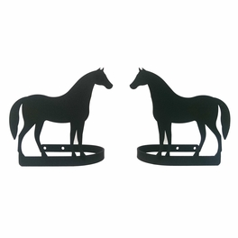 Standing Horse Curtain Tie Backs Pair