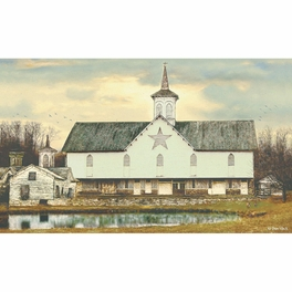 Star Barn Wallpaper Mural - Large
