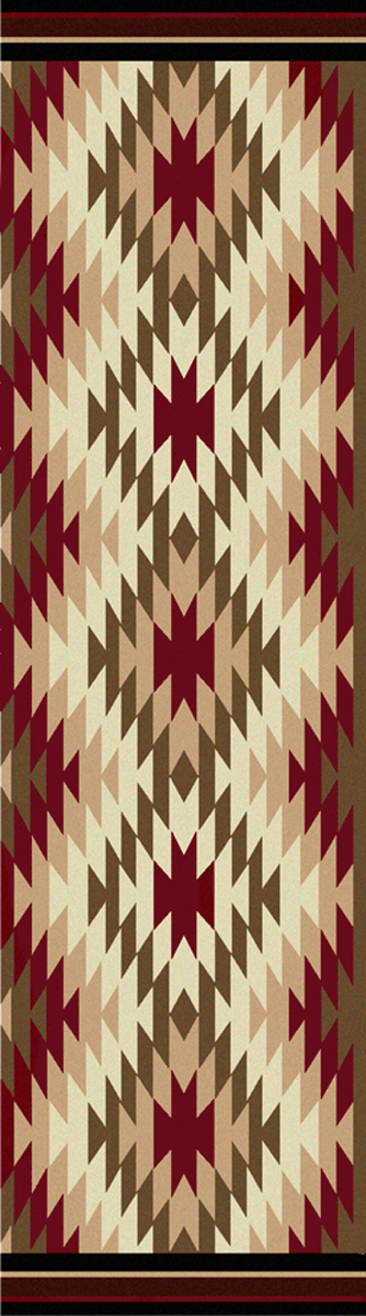 Star Burst Red Rug - 2 x 8